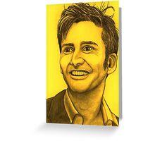 David Tennant celebrity portrait Greeting Card
