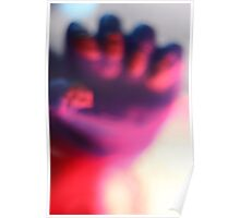 abstract red and purple clouded fist Poster