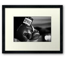 Everlast Boxing Gloves (Black And White)  Framed Print