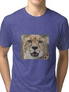 Young Male Cheetah Tri-blend T-Shirt