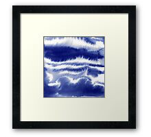 Lost In My Mind - Blue Framed Print