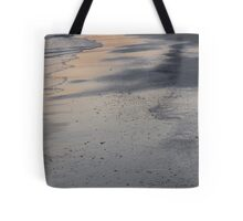 Sunset reflection on the sand Tote Bag