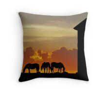 sunset graze Throw Pillow