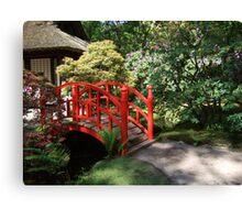 The Path to the Red Bridge Canvas Print