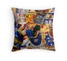 Here a Chook there a Chook Throw Pillow