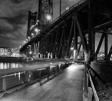 Portland Oregon at night by pdsfotoart