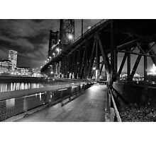 Portland Oregon at night Photographic Print
