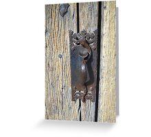 Old door knob Greeting Card