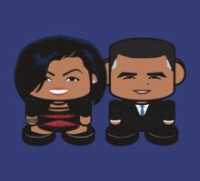 Obamas: Greater Together Politico'bot Toy Robots by Carbon-Fibre Media