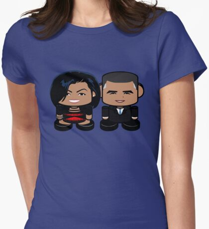 Obamas: Greater Together Politico'bot Toy Robots Womens Fitted T-Shirt