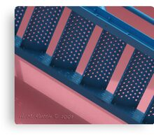 Flamingo Airport Stairs Canvas Print