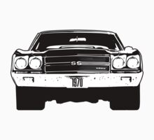 1970 Chevy Chevelle - Black & White by OldDawg