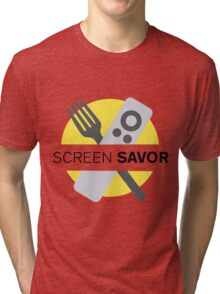 Screen Savor Podcast Logo Tri-blend T-Shirt
