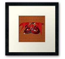 Slifer the Sky Dragon Framed Print