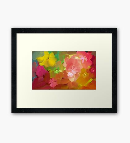 Happy colours Framed Print