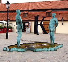 Peeing Men. Kafka Museum. Prague, Czech Republic by jwhimages