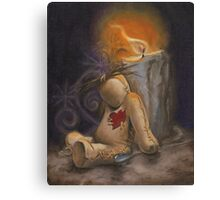 Lonely Little VooDoo Doll Canvas Print