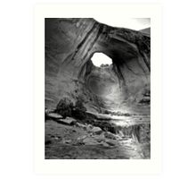 Bow Tie Arch in Black and White Art Print