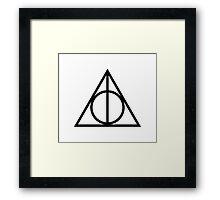 Deathy Hallows pattern Framed Print