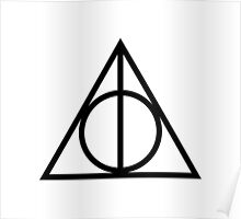 Deathy Hallows pattern Poster