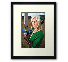 Hero of Time Cosplay Print Framed Print