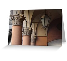 three columns and a streetlight Greeting Card