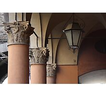 three columns and a streetlight Photographic Print