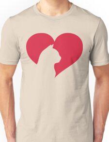 Cat Heart  Unisex T-Shirt