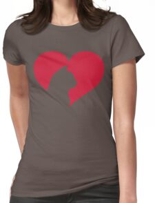 Cat Heart  Womens Fitted T-Shirt