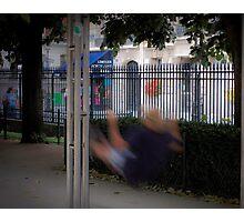 Notre Dame park swing Photographic Print