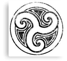 Skyrim Distressed Morthal Logo - B&W Canvas Print
