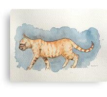 Water Color Cat Canvas Print