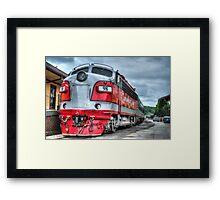 Red Engine Framed Print