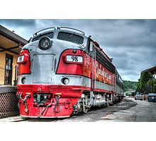 Red Engine Photographic Print