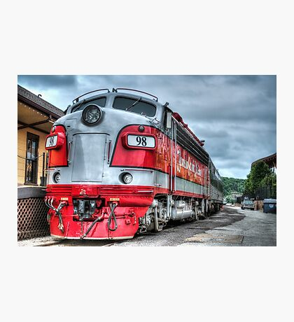 Red Engine Photographic Print