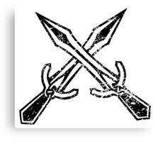 Skyrim Distressed Riften Logo - B&W Canvas Print
