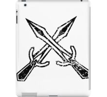 Skyrim Distressed Riften Logo - B&W iPad Case/Skin