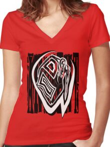 Ancient T Women's Fitted V-Neck T-Shirt