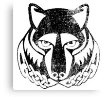 Skyrim Distressed Solitude Logo - B&W Canvas Print
