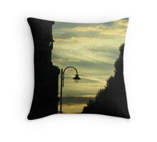 Sunset Street Throw Pillow