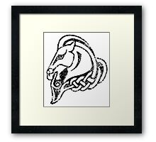 Skyrim Distressed Whiterun Logo - B&W Framed Print