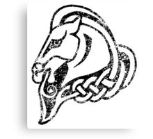 Skyrim Distressed Whiterun Logo - B&W Canvas Print