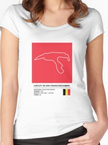 Circuit de Spa-Francorchamps - v2 Women's Fitted Scoop T-Shirt