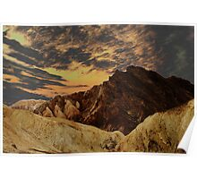 Golden Canyon, Death Valley Poster