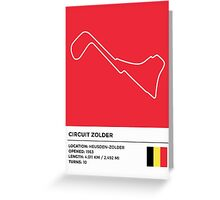 Circuit Zolder - v2 Greeting Card