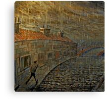it were always raining  Canvas Print
