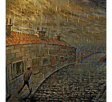 it were always raining  Photographic Print