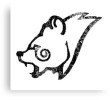 Skyrim Distressed Windhelm Logo - B&W Canvas Print