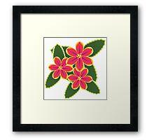 Pink Tropical Flowers Framed Print