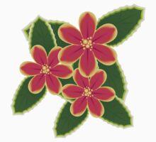 Pink Tropical Flowers Kids Tee